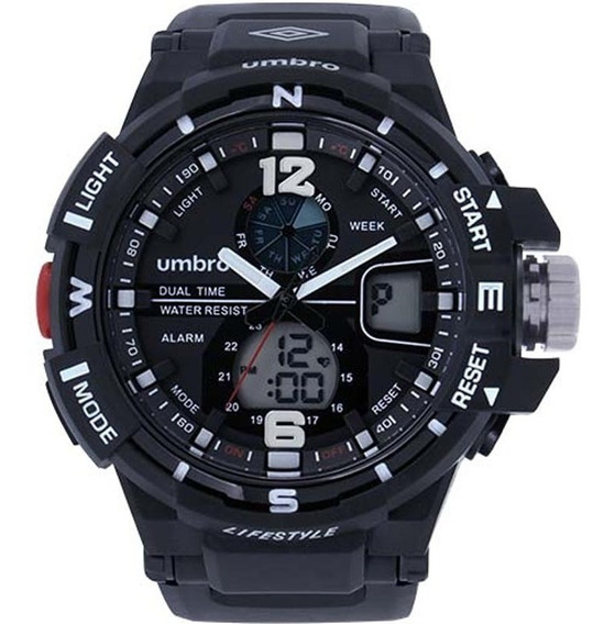 Relógio Umbro Masculino Umb-012-1, C/ Garantia E Nf