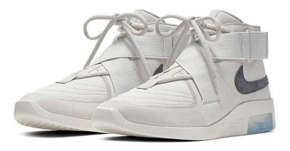 Tênis Nike Air Fear Of God Strap Raid Light Bone (bege).