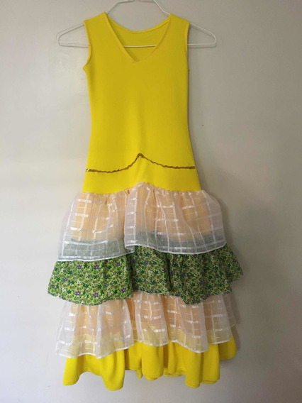 Vestido De Niña Para Flamenco O Disfraz. Talla 10