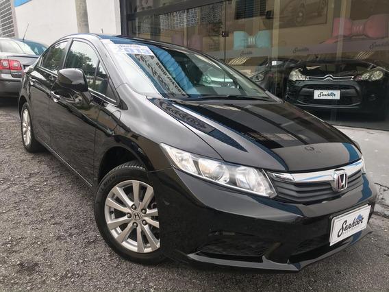 Honda Civic Lxs 2.0 Flexone Automático 2013 - Preto