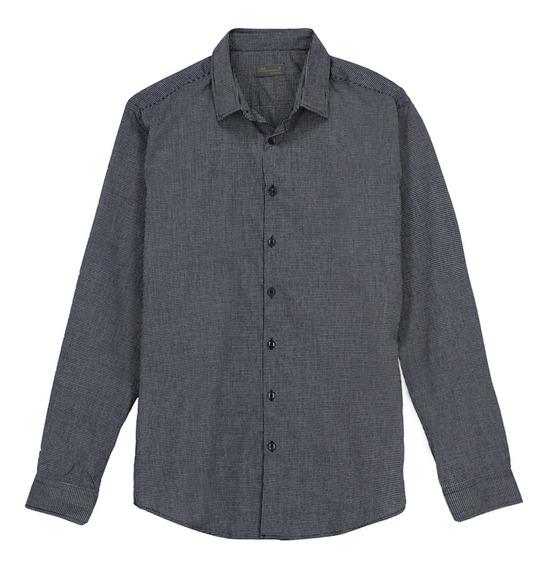 Camisa Básica Manga Larga De Hombre C&a 1055324