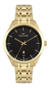 Relógio Technos Masculino Ref: 2115msb/4p Classic Dourado