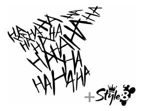 Adesivo Hahaha Coringa Style8