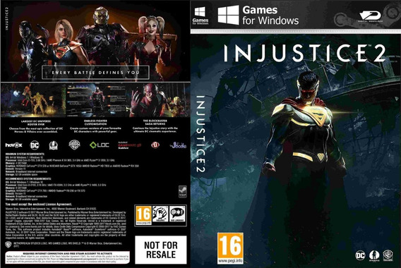 Injustice 2 Pc (midia Física)
