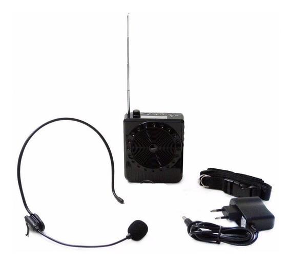 Megafone Amplificador Microfone E Usb E Sd Recarregavel