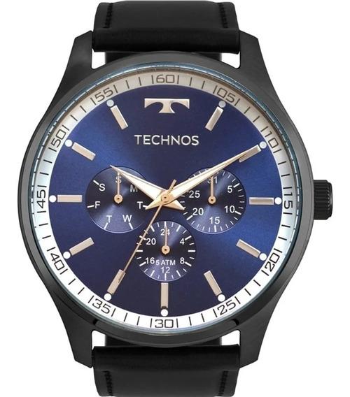 Relógio Technos Masculino Couro Preto 2015cdi/2c Original