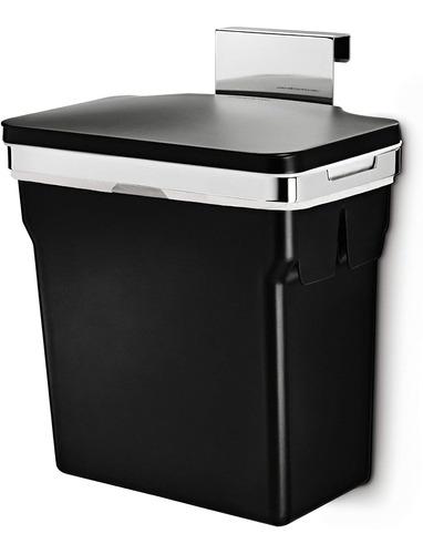 Imagen 1 de 6 de Simplhuman Negro Plástico Bote Basura Colgar Puerta Gabinete
