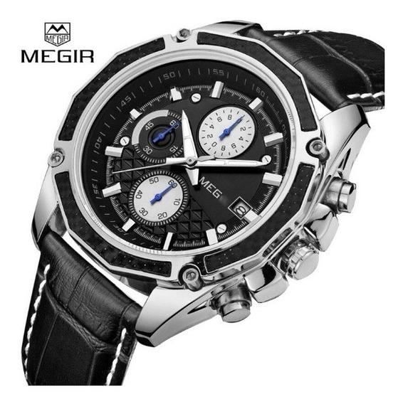 Relógio De Luxo Masculino Megir Ml2015g