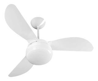 Ventilador de teto Ventisol Fênix branco com 3 pás de plástico, 96cm de diâmetro 127V