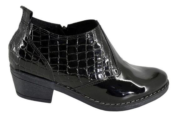 Zapatos Mujer Texanas Reptil Charol Eco Cuero