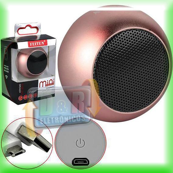 Caixinha De Som Original Bluetooth Mini Speaker 3w Feitun +