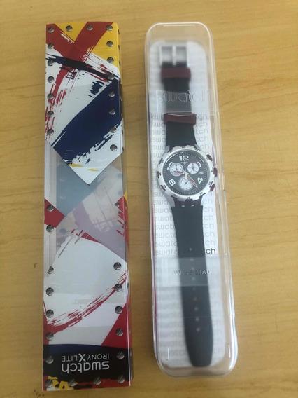 Relógio Swatch Irony Red Wheel Cronógrafo Cronograph