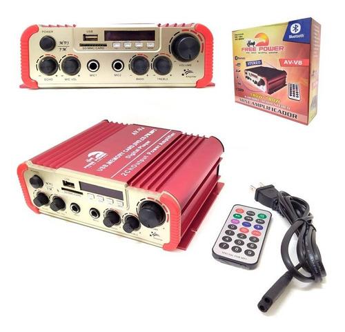 Amplificador Stereo 180w+180w, Karaokeo, Eco,usb,nuevo