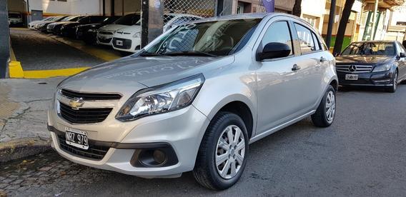 Chevrolet Agile Ls 1.4 2014 Gnc Gris Permuto Financio