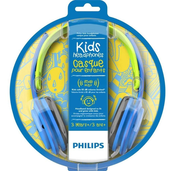 Fone De Ouvido Kids Philips Shk2000 Com Limitador De Volume