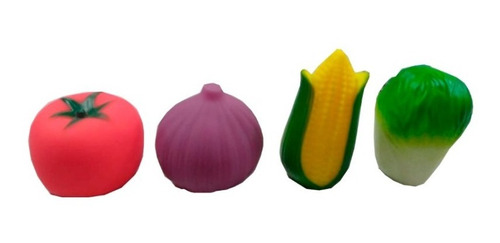 Brinquedo Vegetais De Borracha Para Banho Comidas Macio