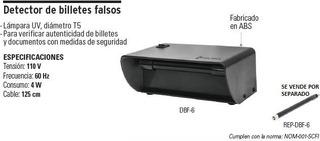 Detector De Billetes Falsos Volteck 48400