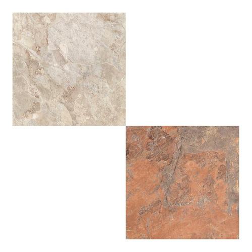 Imagen 1 de 9 de Porcelanatos De Piso Y Pared Cerro Negro Oxido Simil Piedra 61x61 1ra