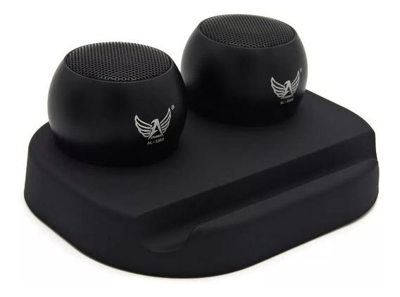 Mini Caixa De Som Portátil Hifi3w Com Base Recarregável Top