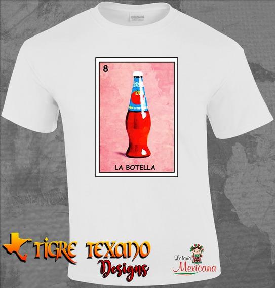 Playera Sublimada Lotería La Botella By Tigre Texano Designs