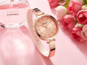 Relógio Curren 9012 Feminino Quartzo Luxo Elegante Envio Ráp