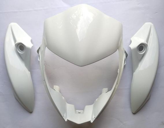 Carenagem Do Farol Cb 300 Kit Central E Lateral Branco 12