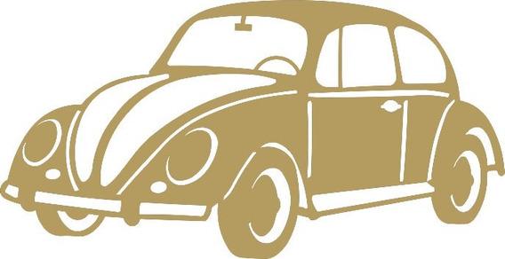 Pack 5 Carro Fusca Mdf Cru Decoração Aplique 10 Cm Md03