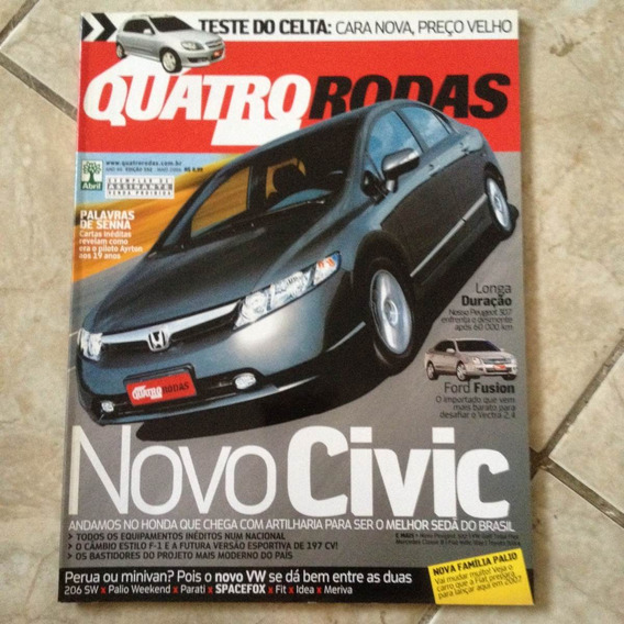 Revista Quatro Rodas 552 Maio2006 Novo Civic 206 Sw Spacefox
