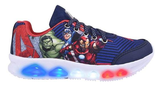 Tênis Infantil Masculino Azul/branco Avengers 011348