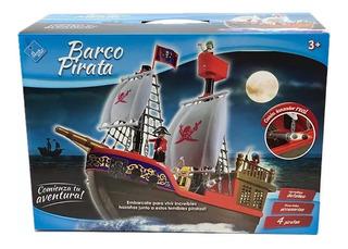 El Duende Azul Barco Pirata 4 Figuras Y Acces Itm 6442
