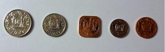 Africa Surinam Set 5 Monedas 2015 De 1 5 10 25 100 Cent