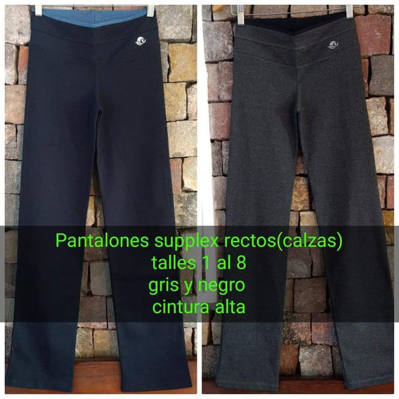 Calza Supplex Deportiva Talle 1 Al 7 Chupín/ Recta