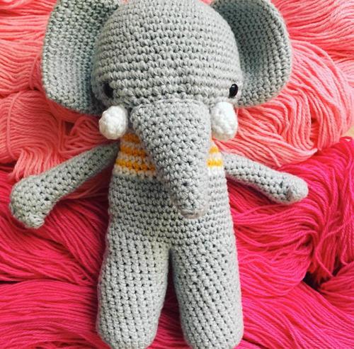 Elefante Amigurumi -al Crochet- Pequeñasonrisas - $ 800,00 en ... | 492x500