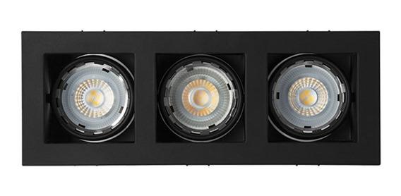 Luminario Triple Base Empotrar En Techo Th-4232.nn Illux