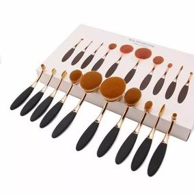 Kits Pincel Maquiagem Oval- 50 Peças