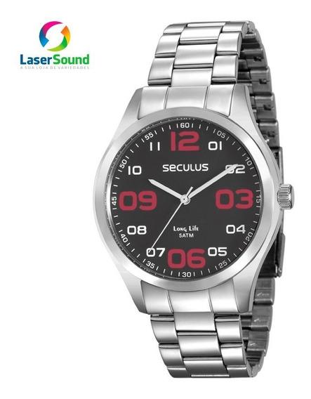 Relógio Seculus Masculino 28857g0svna1 C/ Garantia E Nf
