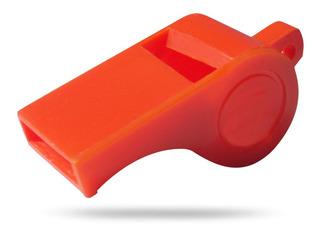 Apito Plástico Para Sinalização Laranja 5 Unidades