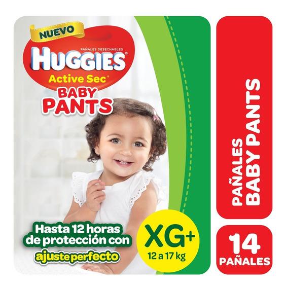 Pañales Huggies Active Sec Pants Talle Xg X14u
