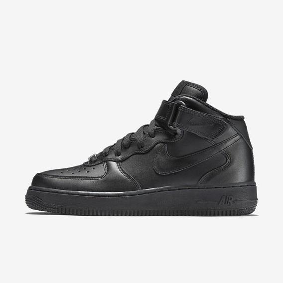 Tenis Nike 366731-001 Air Force 1 Preto Original Exclusivo