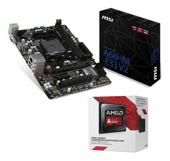 Combo Kit Actualización Amd A6 7480 Asus - Msi A68 Fm2 Royal