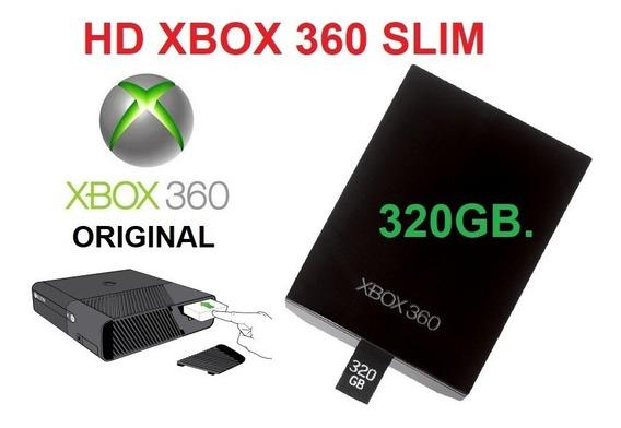Hd 320gb Xbox 360 Slim E Super Slim Original Pronto Entrega