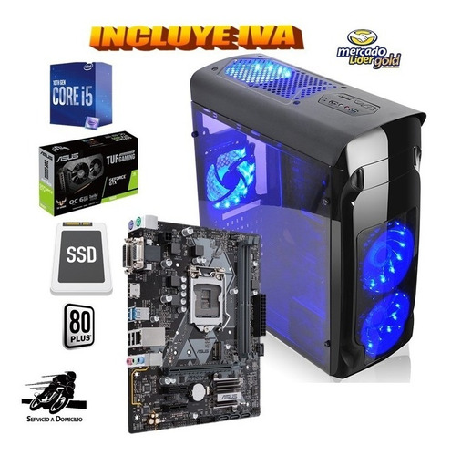 Cpu Gamer Intel Core I5 10ma/1tb+ssd 480gb 16gb Gtx1660s 6gb