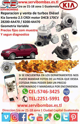 Turbo Kia Sorento 2.5 Crdi D4cb 170cv Geometria Variable