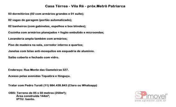 Casa Para Venda Por R$530.000,00 - Vila Ré, São Paulo / Sp - Bdi21939