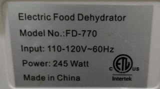 Deshidratador