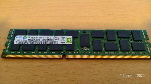 Imagem 1 de 2 de Samsung 8gb 2rx4 Pc3 10600r M393b1k70dh0-ch9q9 Ecc Dimm Serv