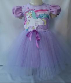 Vestido Infantil Festa Unicórnio Bailarina Fantasia