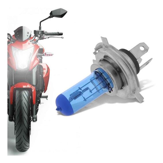 Lampada Super Branca Moto H4 8000k Tipo Xenon 12v 35w
