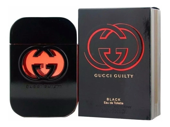 Perfume Gucci Guilty Black Feminino Edt 75ml Lacrado Com Nf
