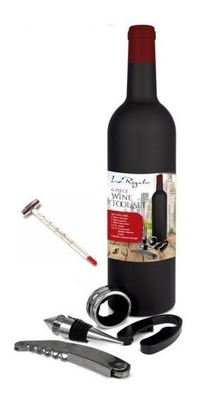 Set Destapador Botella De Vino Saca Corchos Elegante Abridor